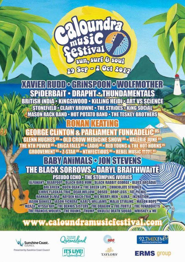 caloundra music festival 2017 poster